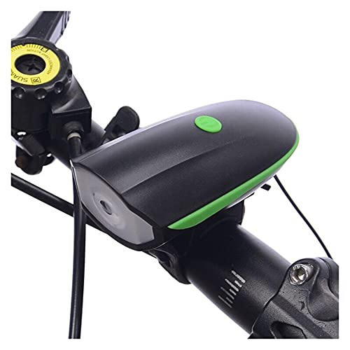 liutao Luz Bicicleta Carga USB LED Light Bike/BICICLETE/Light WITH130DB Cano ELÉCTRICO Bell Belling LIRTURAS LUCTURA LÁMPARA Fuera DE Fuera/LINFIZADOR Ciclismo (Color : Green(USB Charged))
