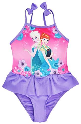 Disney Frozen Anna Elsa - Bañador niña Morado Morado