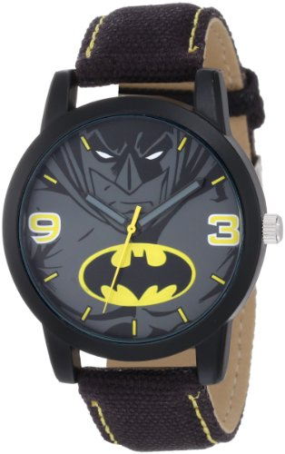 Batman Kids' BAT9040 Batman Black Canvas Strap Watch