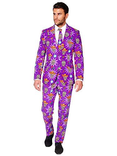 OppoSuits Halloween Anzüge für Herren - Komplettes Set: Jackett, Hose und Krawatte
