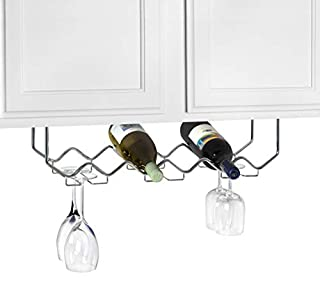 Spectrum Diversified Under Cabinet Wine Rack and Stemware Rack, 6-Bottle/6-Stems, Chrome (B000Z7EZUE) | Amazon price tracker / tracking, Amazon price history charts, Amazon price watches, Amazon price drop alerts