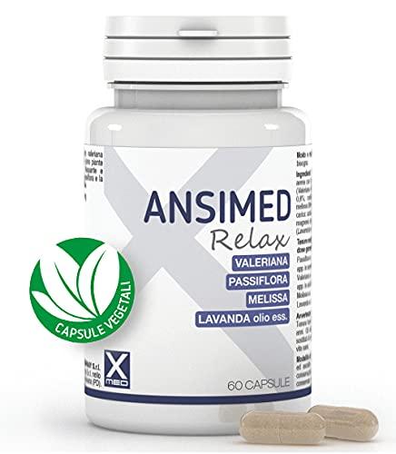 Ansimed Relax – Integratore Rilassante contro Stress e Ansia con Valeriana Passiflora Melissa e Lavanda – 60 Capsule Vegetali – Alto Dosaggio| XMED