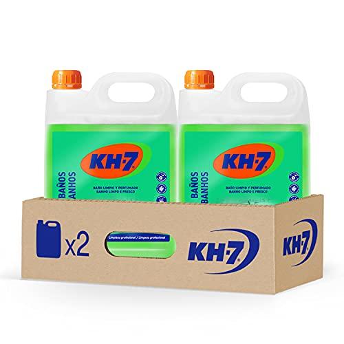 KH-7 Baños Desinfectante - Máxima Eficacia Sin Esfuerzo, Fórmula sin Lejía, Elimina el 99,9% de Bacterias y Virus Encapsulados - Pack de 2 Unidades x 5 L
