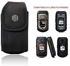 AccessoryHappy Universal Vertical Canvas FLIP Phone Pouch Holster Nylon Belt Case Flip Phone Belt Case Cover Fits Kyocera ...