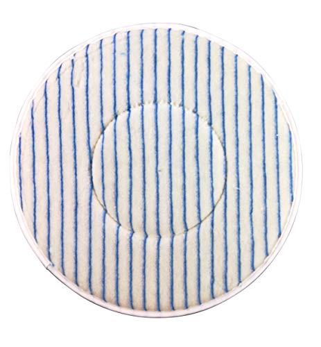 Microfiber pad wit, blauw 16 inch machine pad voor reinigingsmachine reinigingspads poetspad microvezel borstel pad microvezeldoek reinigingsmachine zelfklevend parket, tegels universeel