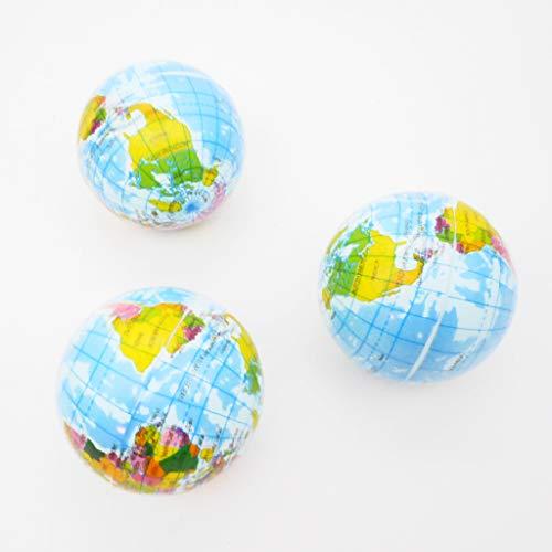 (訳アリ)やわらかくて可愛い 地球儀ボール 3個セット