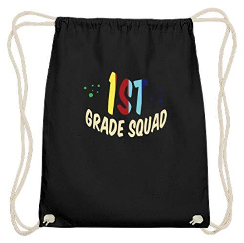 Spirit Squad 1st Grade Squad – Première fidèle – Étudiant, étudiant, première classe, visite à l'école, premier sac de gymsac en coton - Noir - Noir , 37cm-46cm