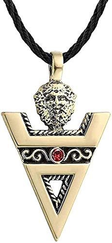 Yiffshunl Collar Signo Hombres Collares Cultura eslava Signo pagano Antiguo Amuleto de Plata Colgante Hecho a Mano joyería niñas niños Collar