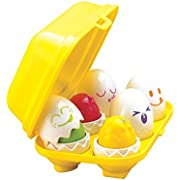 TOMY Toomies Hide and Squeak Eggs  Educational Shape Sorter Toy  Suitable From 6 Months