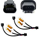 iJDMTOY Error Free H13 9008 Wiring Harness Adapters w/Load Resistors Compatible With Xenon Headlight Kit