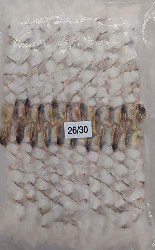 26-30サイズ 尾付 伸ばし海老 ( ブラックタイガー ) 20尾 天ぷら、海老フライ等 冷凍 業務用
