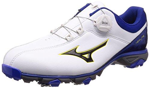 [ミズノ] ゴルフシューズ ネクスライト 005 ボア メンズ スパイク 3E ホワイト×ブルー 25.5cm