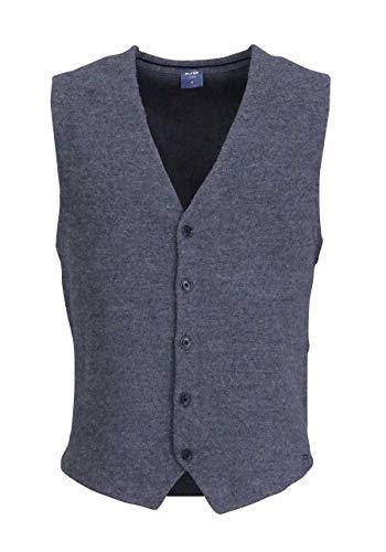 OLYMP Herren Weste Hemd Wolle Oberhemd Einfarbig Grau M