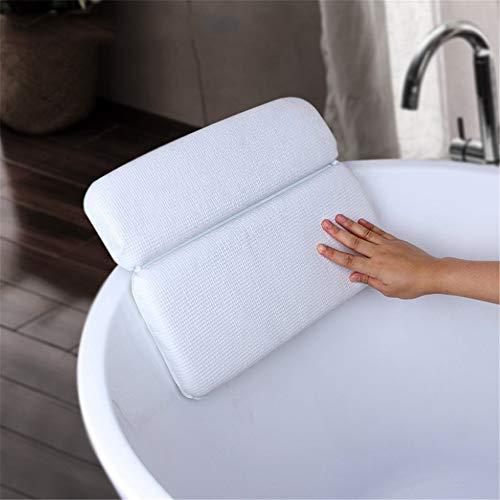 Badkuip kussen de whirlpoolkussen hals en support schouder anti-blokkeersysteem extra dikke relaxing experience blauw wit plaatsen voor badkuip, whirlpool