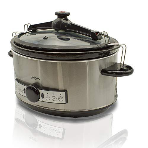 MPM MWO-01M Olla cocción Lenta programable 6,5 litros, cubeta cerámica Ovalada Libre...