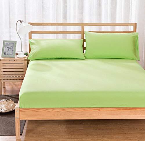HPPSLT colchón Acolchado, antialérgico antiácaros, Funda Antideslizante para sábanas-Hierba Green_150x200cm