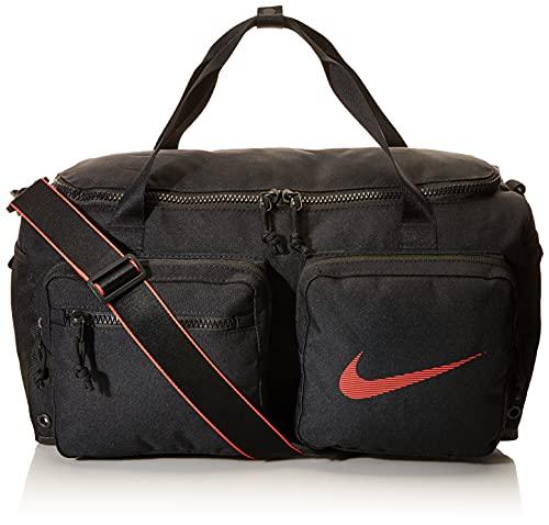 Nike Herren Utility S GFX Su20 Sporttasche, Black/Black/Track Red, One Size