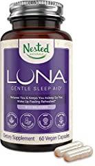 NATURAL SLEEP SUPPLEMENT - LUNA is a gentle herbal sleep supplement made with safe, naturally sourced, scientifically-backed ingredients that are non-habit forming and will encourage a healthy and balanced sleep schedule. DEEP, RESTFUL SLEEP EVERY NI...