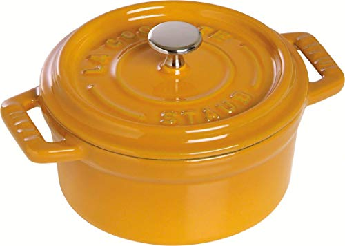Staub Cocotte, rund, Induktionsgeeignet, Gusseisen, Senf, 10 cm, 1 Einheiten