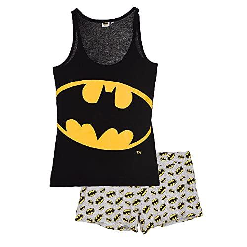 Pyjama Femme en Coton DC Comics Batman, Superman, Wonder Woman (M, Batman Noir)