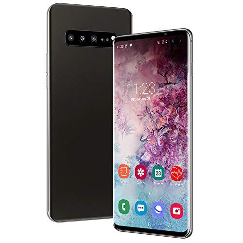 Dual Sim Android Smart Touch Screen Teléfono móvil, teléfono Inteligente Resistente Android 6.0 Teléfonos Impermeables 6GB RAM + 128GB ROM Extensible Face ID y desbloqueo de Huellas Dactilares, Negro