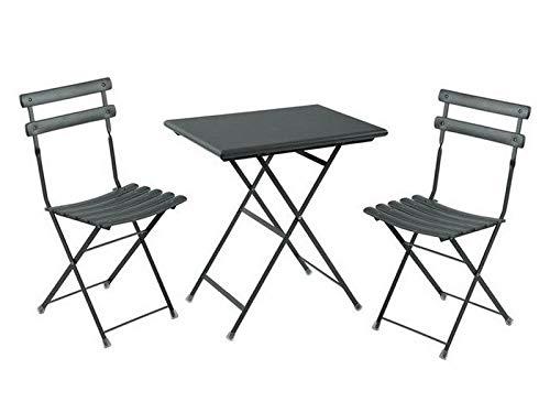 tavolo da giardino emu EMU Set da Esterno Arc EN Ciel Ferro Antico Tavolo 70X50CM + 2 SEDIE
