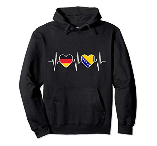 Deutschland und Bosnien Herzegowina Fahne Flaggen Pullover Hoodie