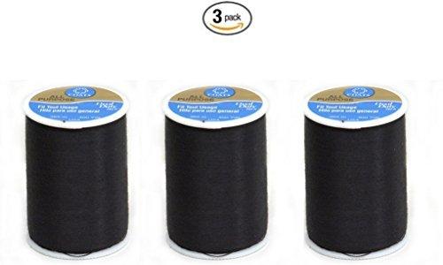 Coats & Clark Dual Duty All-Purpose Thread 400 Yds: Black (ONE spool of yarn) (3)