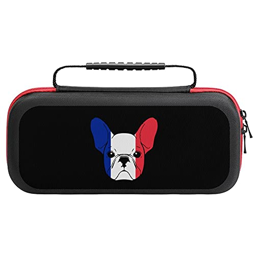 French Bulldog Sketch Travel Carrying Case Tote Bag For Nintendo Switch Accessories Holds 20 Game Card Bag