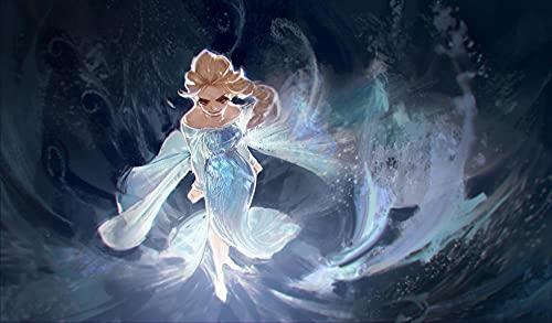 Csysak Puzzle 1000 Piezas para Adultos - Póster Elsa y Anna - Rompecabezas Impresión de Alta Multicolor, Juego de Puzzle, decoración del hogar