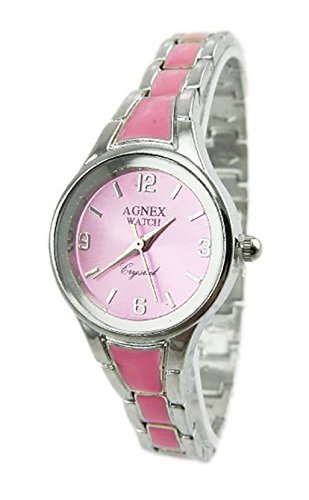 Agnex Damenuhr Quarz Uhrenwerk rosa Metall Armband