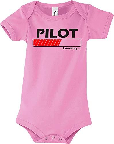 Shirtstown Baby Body Pilot Chargement - Rose, 12-18 Monate