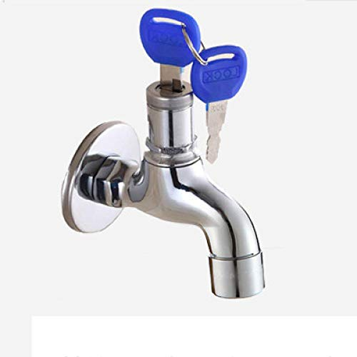 yjll Outdoor anti-diefstal wastafel kraan met slot sleutel enkele handvat afsluitbaar huishoudelijk wassen waterkraan
