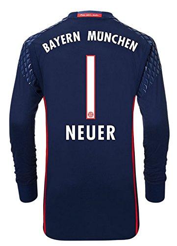 adidas Trikot FC Bayern 2016-2017 Home Torwart (Neuer 1, M)