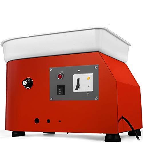 VEVOR Electrique Poterie Roue 25cm, Machine Bricolage Argile Outil 350W, Roue de poterie électrique en Céramique