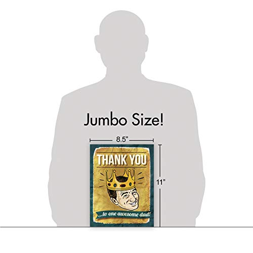 NobleWorks - Jumbo Fathers Day Card Funny (8.5 x 11 Inch) - Hilarious Greeting Notecard for Dads, Grandpa - Awesome Dad J0234 Photo #3