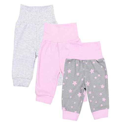TupTam Baby Mädchen Lange Pumphose 3er Pack, Farbe: Farbenmix 2, Größe: 80