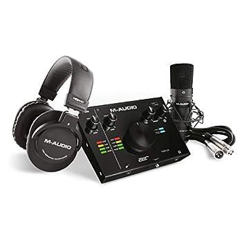 M-Audio - Complete Recording Bundle - USB Audio Interface Microphone Shock mount Cable Headphones and Software Suite - AIR 192 4 Vocal Studio Pro