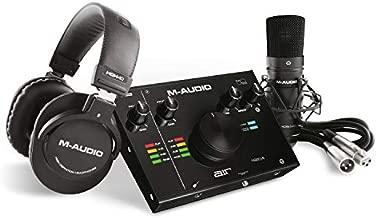 M-Audio - Complete Recording Bundle - USB Audio Interface, Microphone, Shock mount, Cable, Headphones and Software Suite - AIR 192|4 Vocal Studio Pro