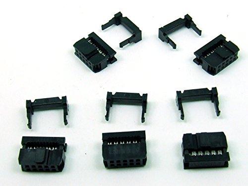 POPESQ® - 5 STK./pcs. x IDC 10(2x5) polig/Way Stecker - für Flachbandkabel/Ribbon Cable 2.54mm #A152