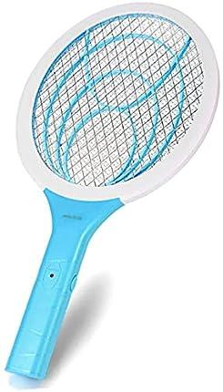 seenlast Raqueta Mosca Antimosquitos, Matamoscas Eléctrico Zapper Mata Mosquito, 3000 Voltios Plagas Insectos Asesino Repelente para Interior en Aire Libre (Azul)