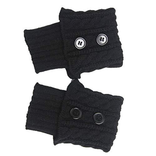 PRENKIN 1 Paar Damen Short-Knopf Crochet Beinlinge Winter Herbst Knit Stiefel Stulpen Socken Stiefelwärmer Stiefel Toppers Gaiters