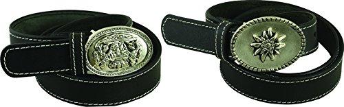 Fuente Leather Wears - Fibbia per Cinture - uomo grigio Schwarz Edelweiss Taglia unica