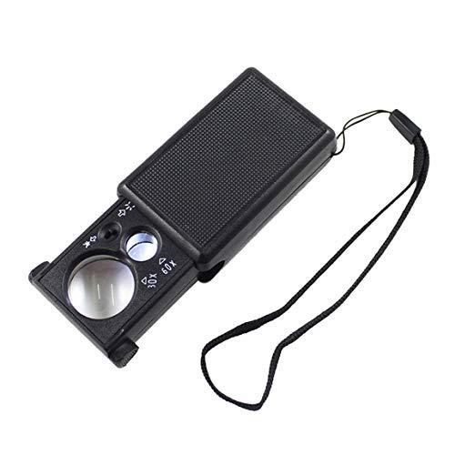 SeniorMar 30X 60X abnehmbare Schmucklupe, tragbare Mini-Taschenlupe, Handmikroskoplupe, optisches Linsenwerkzeug