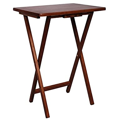 PJ Wood TV Tray Table in Walnut Color