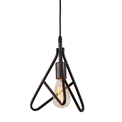 Unitary BRAND Lampe Simple Design en Triangle E27 Peint Noir