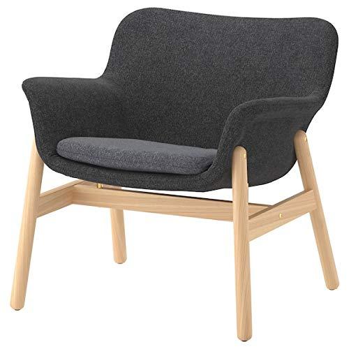 Tok Mark Traders Vedbo Sessel, 75 x 73 x 65 cm, strapazierfähig und pflegeleicht, Stoffsessel, Sessel und Chaiselongues, Sofas und Sessel, umweltfreundlich 75x73x65 cm Dunkelgrau