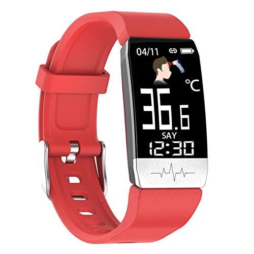 QKA Smart Watch, ECG Fitness Watch para La Temperatura Corporal, Monitor De Frecuencia Cardíaca, Control De Música, Deportes Smartwatch (para iOS Android),C