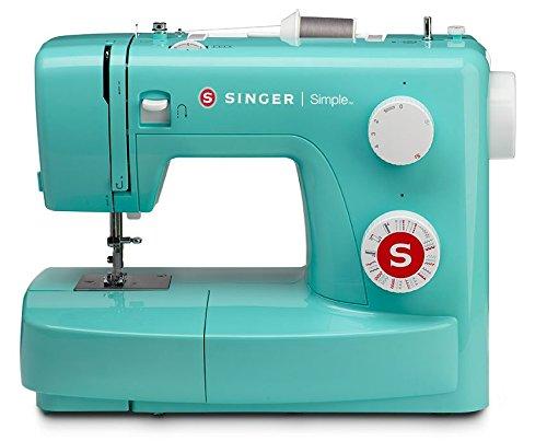 SINGER | Máquina de coser 3223G con 97 aplicaciones de puntada, verde, ojal de 4 pasos y brazo libre, perfecto para principiantes, costura fácil