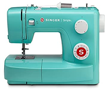 SYS Score: 9.2 SINGER | Simple 3223G Handy Sewing Machine including 23 Built-In Stitches, Adjustable Tension, Easy Stitch Selection, Built-in Bobbin winding & Easy threading